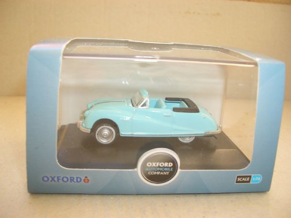 Oxford 76ATL004 ATL004 1/76 OO Scale Austin Atlantic Convertible Ming Blue